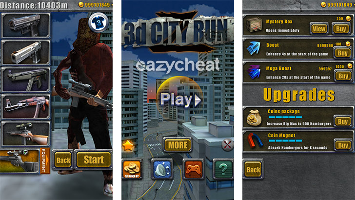 3D City Run 2 Cheats