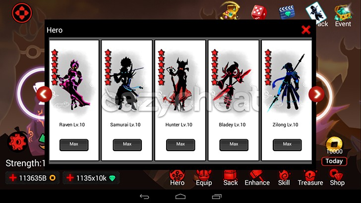 League of Stickman:Reaper Cheats v2.5.1