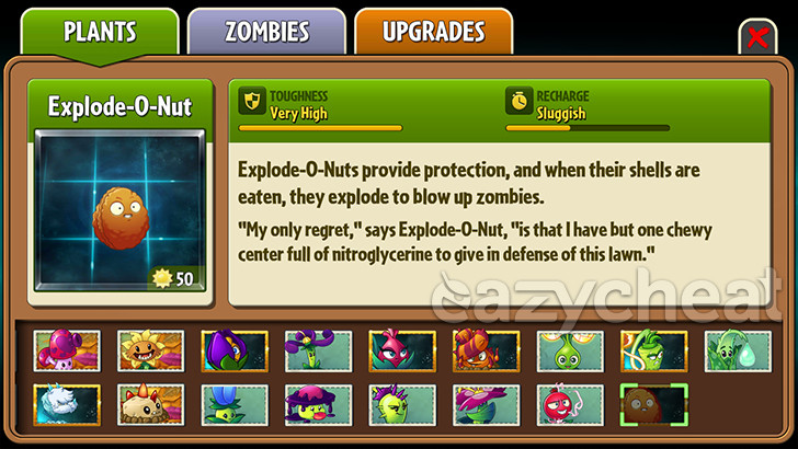 Plants Vs Zombies Hacked >> Plants vs. Zombies 2 v5.0.1 Cheat - Android Cheats - Hacked Save Game Files - EazyCheat