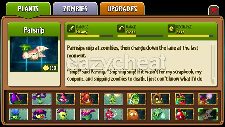 Plants Vs Zombies 2 Cheats - v5.5.1