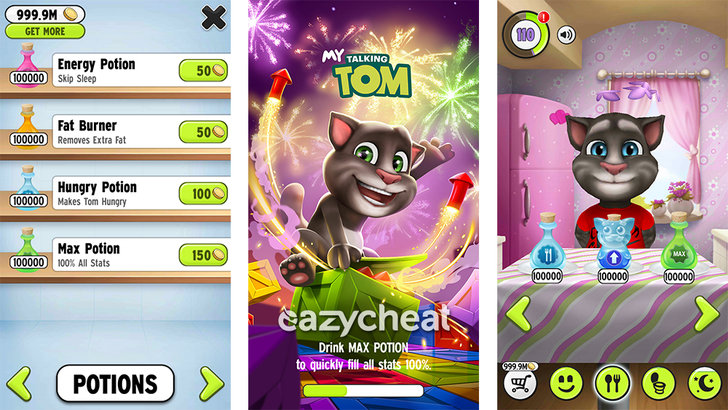 My Talking Tom Cheats - Hacked Android SaveGame | Eazycheat