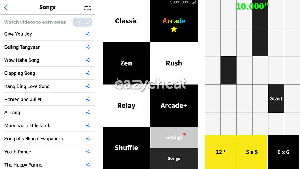 White Tile Game Cheat
