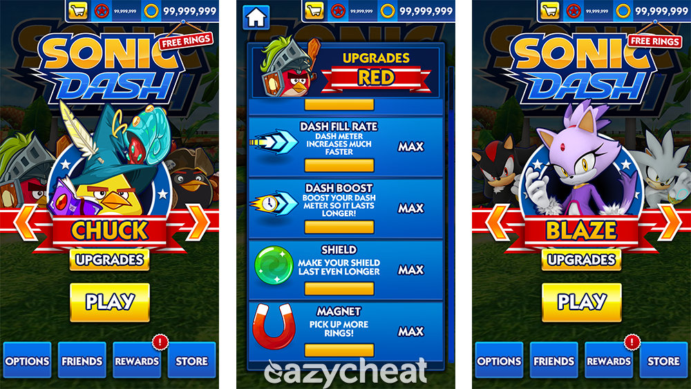 Sonic Dash Cheats Loaded Android Savegame Eazycheat